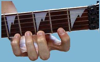 Position des doigts sur le manche